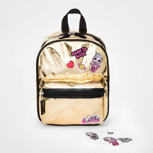 Girls' L.O.L. Surprise! Patched Backpack - Gold - image 1 of 3