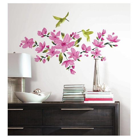 RoomMates Pink Flowering Vine Peel and Stick Wall Decals - image 1 of 1