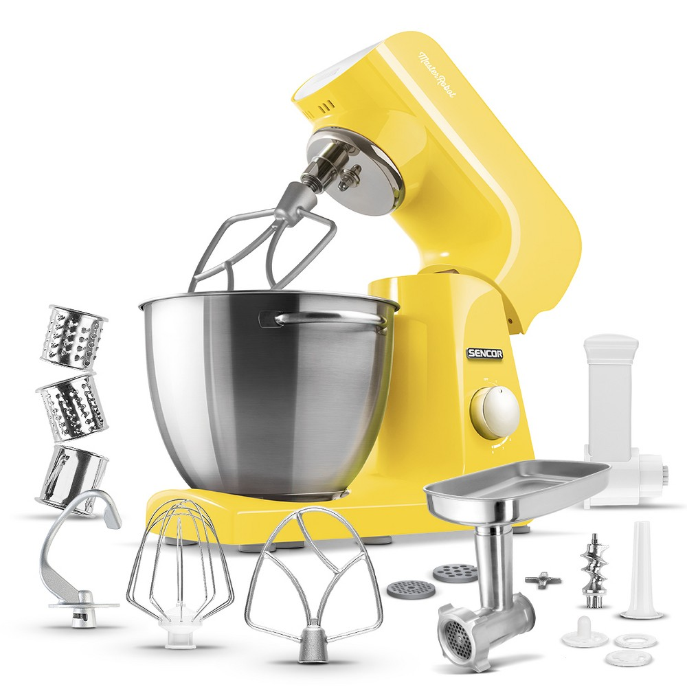 Sencor 4.75qt Stand Mixer and Accessories – Yellow 54289365