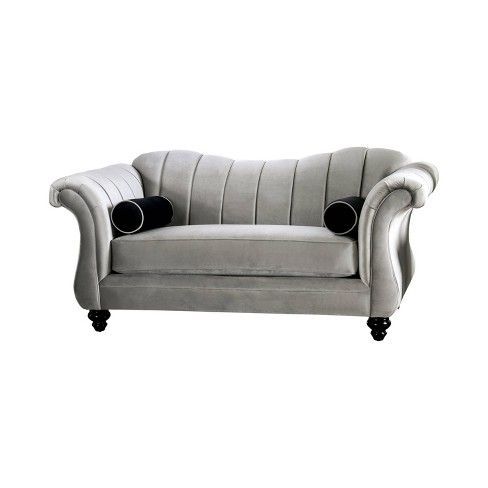 Consuela Rolled Arm Loveseat Pewter Homes Inside Out Target