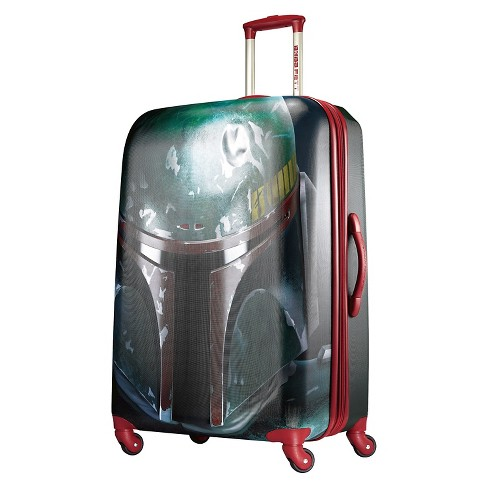 "American Tourister Star Wars Boba Fett  Hardside Spinner Suitcase - Red/Green (28"") - image 1 of 8"
