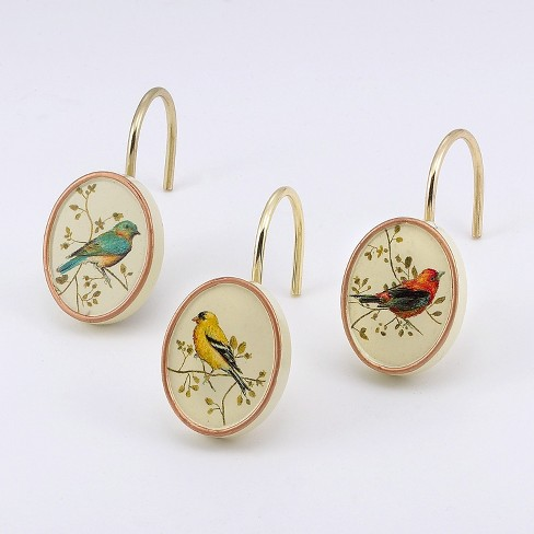 Avanti Gilded Birds Shower Hooks - Ivory Beige - image 1 of 1