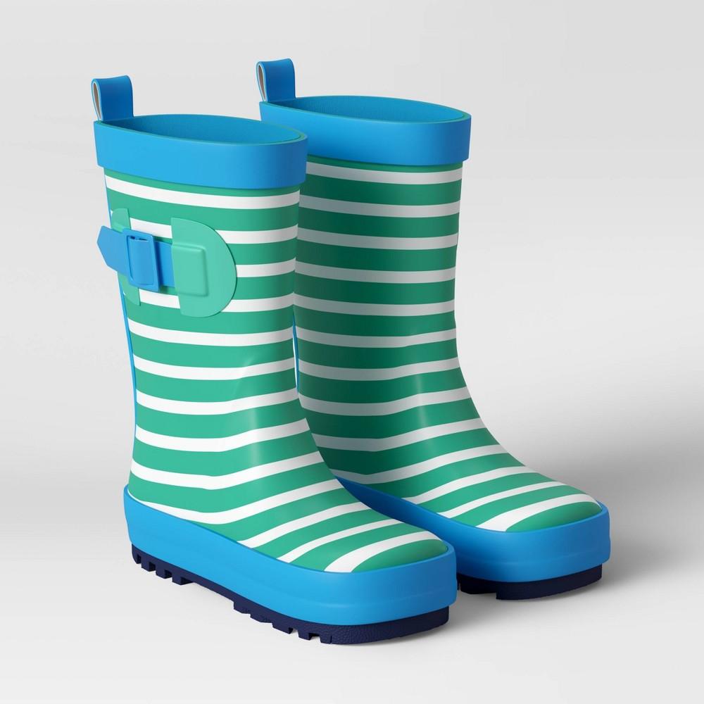 Kids 39 Garden Rain Boot Cabana Stripe S 5 6 Sun Squad 8482