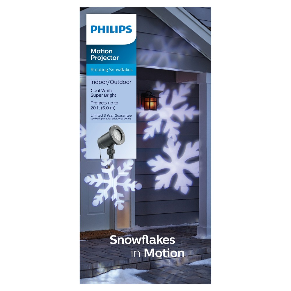 Philips Cool White Led Snowflake Motion Projector