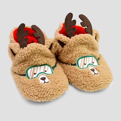 3321590126c Baby Boys  Reindeer Slippers - Cat   Jack™ Brown   Target