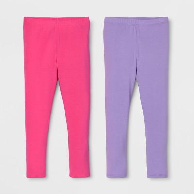 Toddler Girls' 2pk Leggings Set - Cat & Jack™ Pink/Purple
