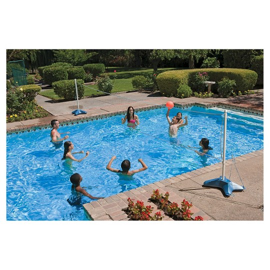 Poolmaster Across The Pool Combo Volleyball/ Badminton Game image number null