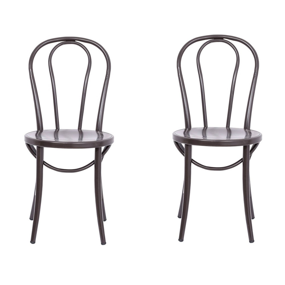Image of Ellie Bistro Dining Chair (Set of 2) - Reservation Seating by Ace Bayou, Antique Brown