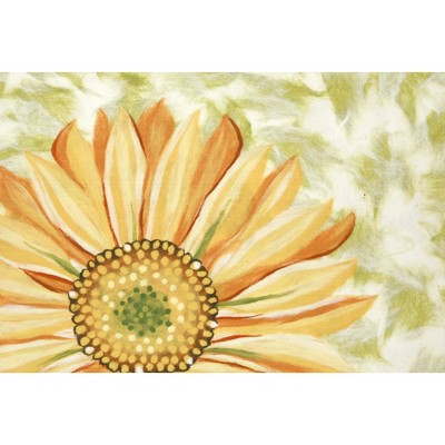 2'X3' Floral Pressed Or Molded Accent Rug Yellow - Liora Manne