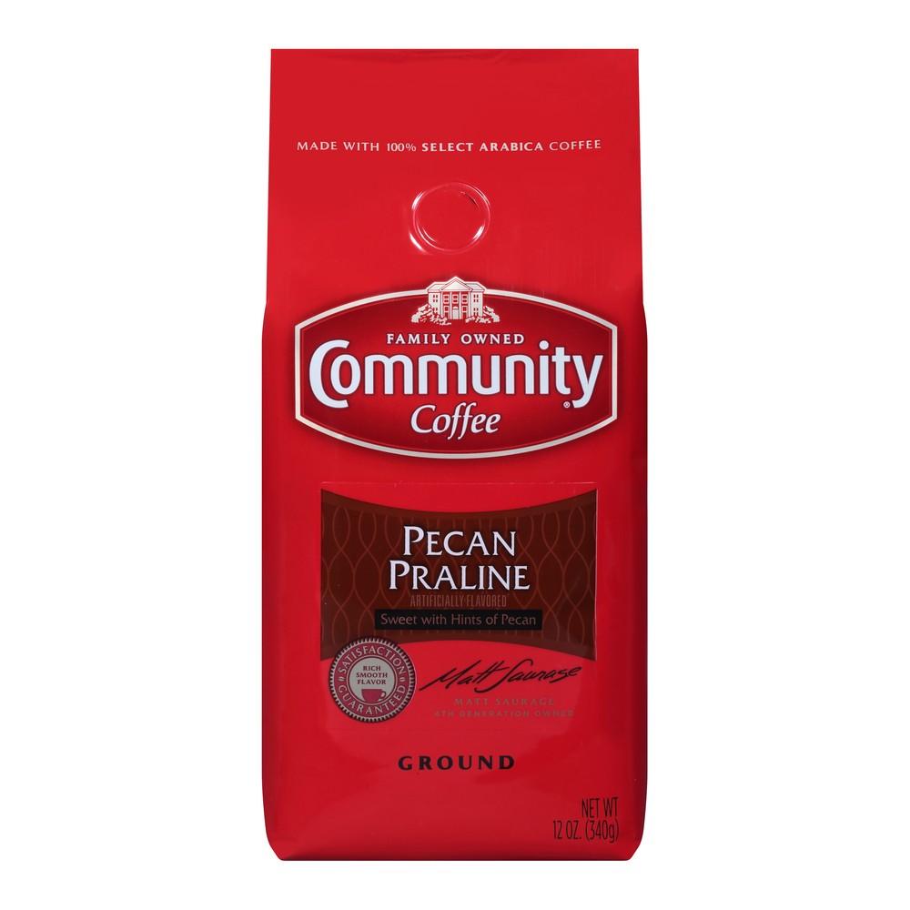 Community Coffee Pecan Praline Medium Dark Roast Ground Coffee - 12oz