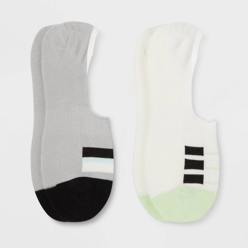 Pair of Thieves Men's Cushion No Show Socks 2pk - Black/Green 8-12 - image 1 of 2