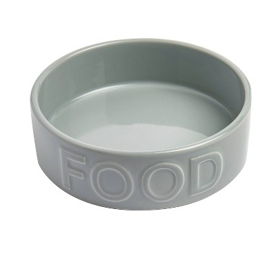 """Park Life Designs Classic Food Dog Bowl 2 Cup - S - Gray - 5.25"""""""