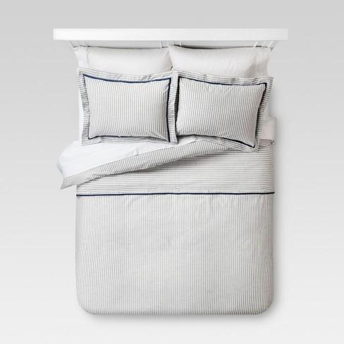 Yarn Dye Stripe Duvet Cover Set - Threshold™ - image 1 of 3