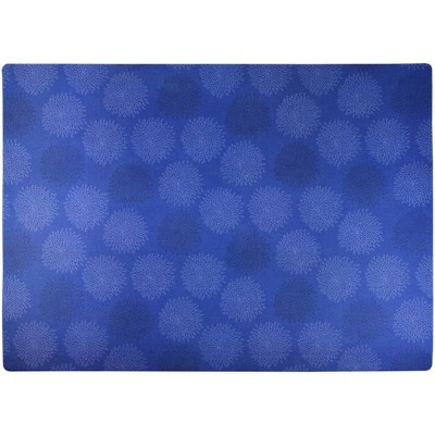 Drymate Cat Litter Trapping Mat - Floral Blue