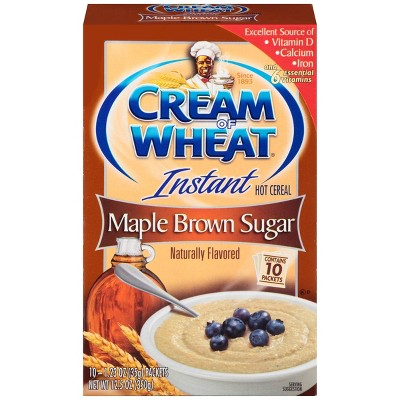 Cream of Wheat Instant Maple Brown Sugar Hot Cereal - 10ct