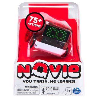 Novie Interactive Smart Robot with Over 75 Actions and Learns 12 Tricks (Red)