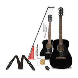 Fender Classic Design Series CC-60S Concert Acoustic Guitar Pack Black
