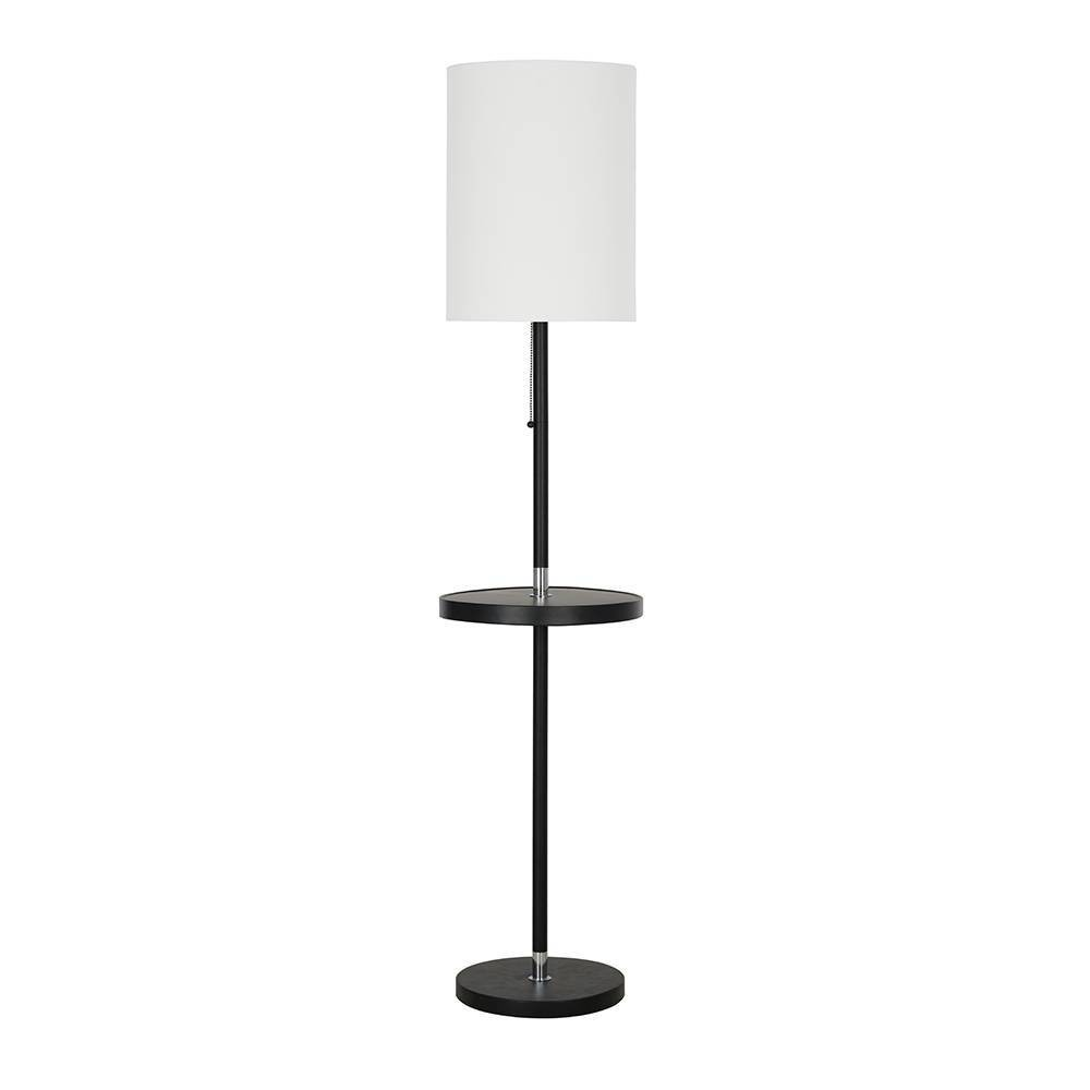 Image of Floor Lamp with Metal Table Black (Lamp Only) - Cresswell Lighting