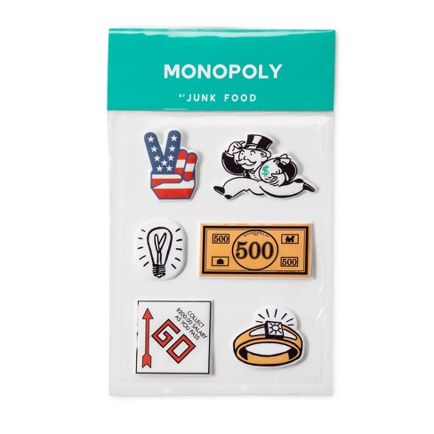 Junk Food Monopoly 3ct Puffy Stickers - image 1 of 1