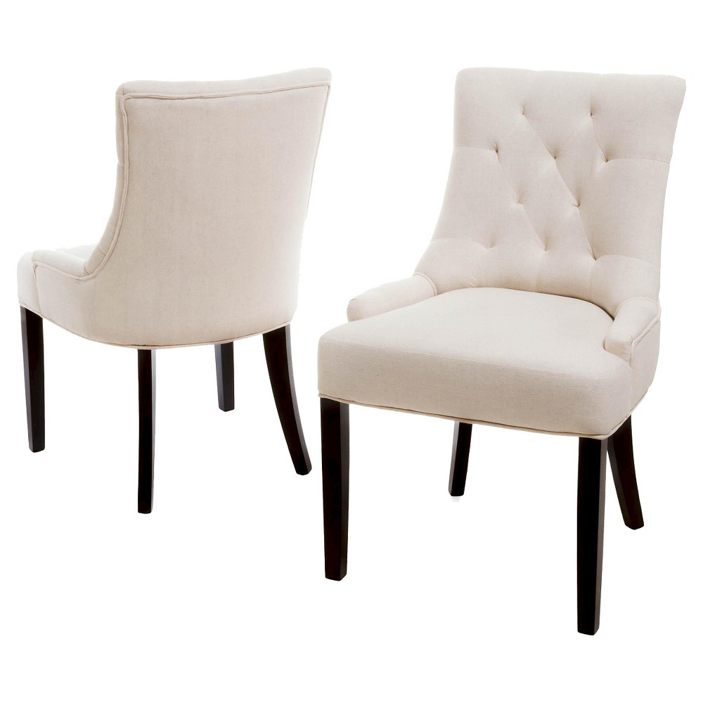 Set of 2 Hayden Tufted Dining Chairs Beige - Christopher Knight Home was $280.99 now $182.64 (35.0% off)