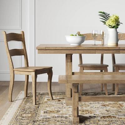 Set of 2 Cloverhill Farmhouse Dining Chair Natural - Threshold™