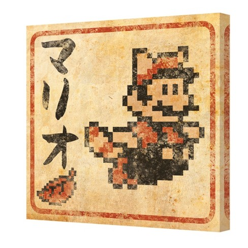 Nintendo 12x12 Canvas Prints Mario Japanese Super Leaf Target