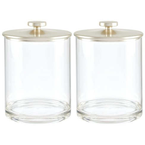 mDesign Modern Round Storage Canister Jar for Kitchen, 2 Pack - image 1 of 4