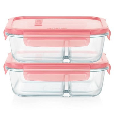 Pyrex Meal Box 4pc 3.4 Cup Rectangular Glass Food Storage Value Pack