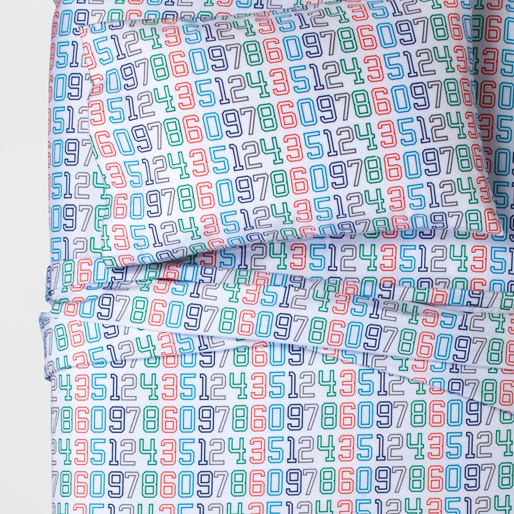 Twin Numbers Sheet Set - Pillowfort, Green