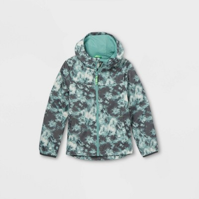 Boys' Tie-Dye Windbreaker Jacket - Cat & Jack™ Teal
