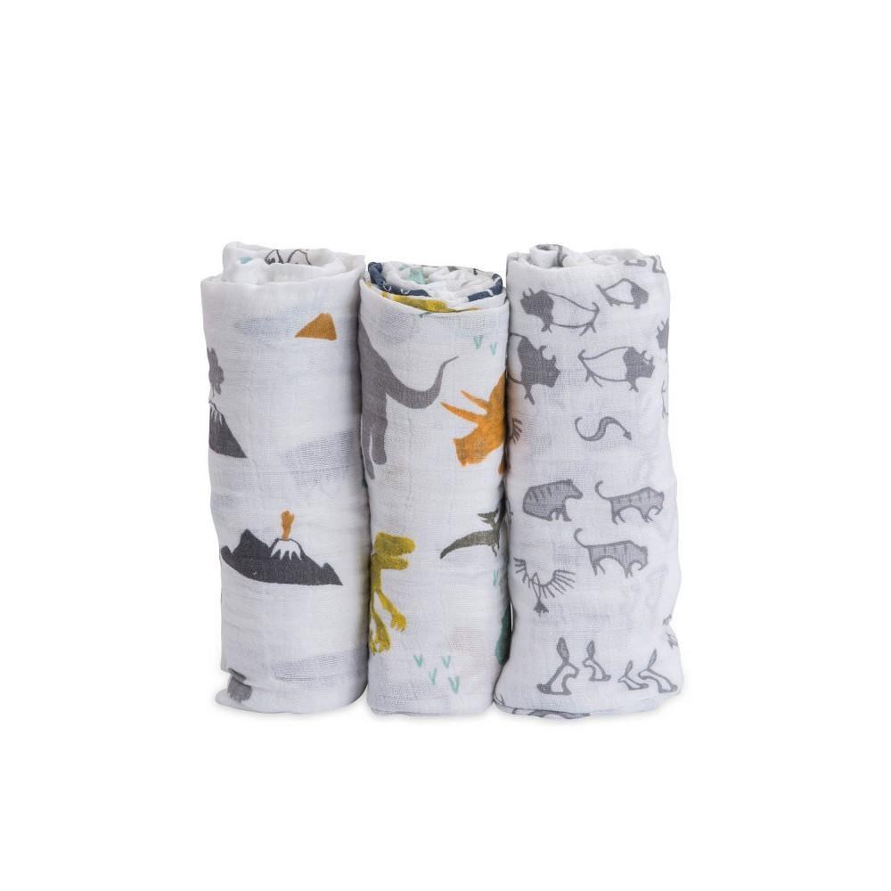 Little Unicorn Cotton Muslin Swaddle Blankets Dino Friends