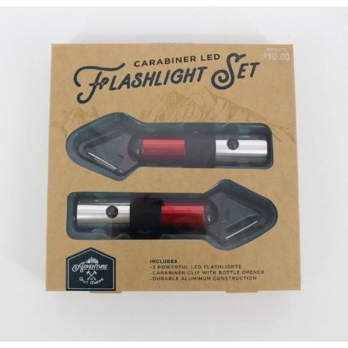 Adventure is Out There Carabiner LED Flaslight Set - Red - image 1 of 4
