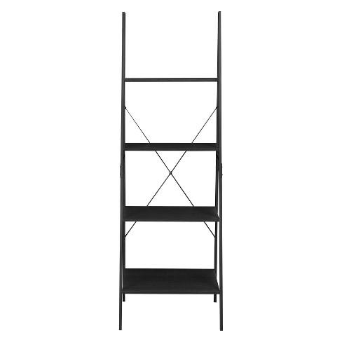 Soho 72 Ladder Bookcase Black