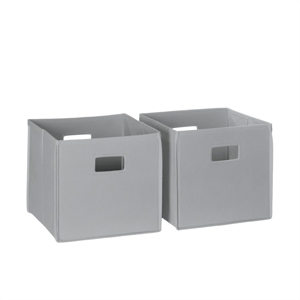 Image of 2pc Folding Toy Storage Bin Set Gray - RiverRidge