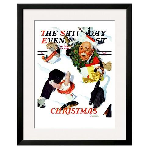artcom white christmas framed print