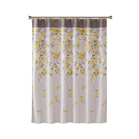 Spring Garden Shower Curtain Gray