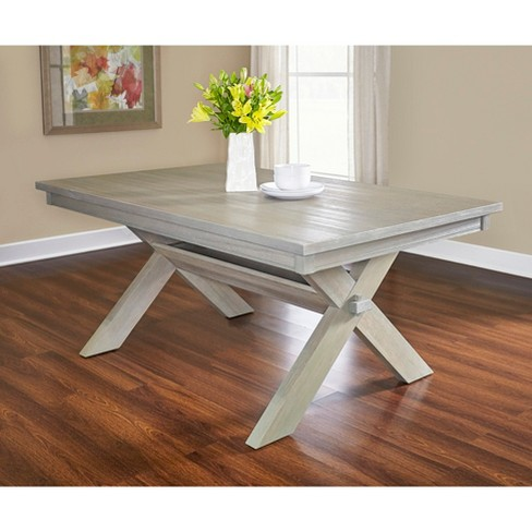 Landon Rectangle Dining Table Distressed Gray Wash Powell Company Target