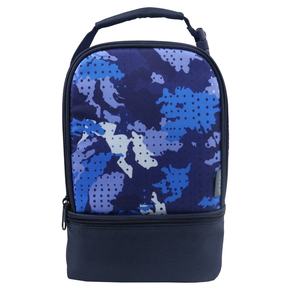 iPACK Dual Lunch Bag - Blue Camo (Green)