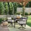 Fernhill 4-Person Rectangle Patio Dining Table Black - Threshold™ - image 4 of 4