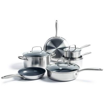 GreenPan Greenwich  10pc Stainless Steel Cookware Set