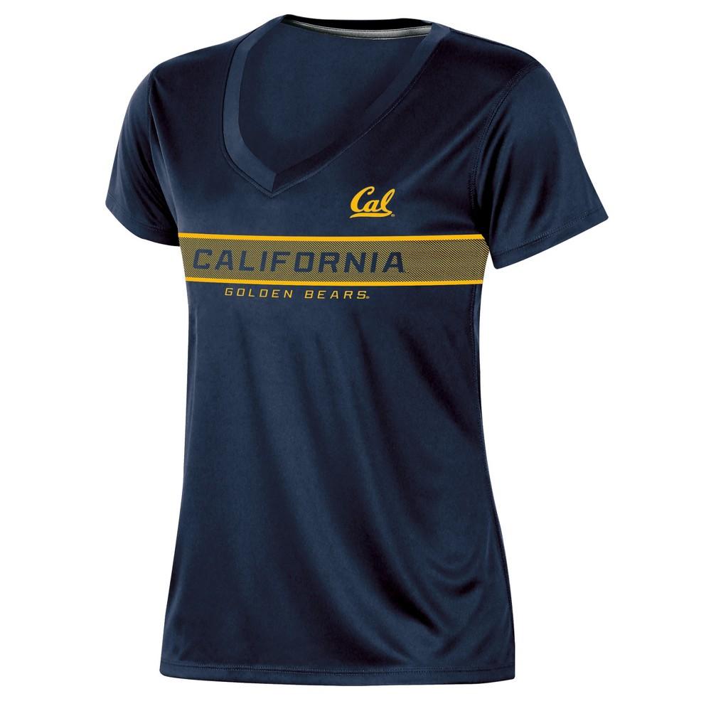 Cal Golden Bears Women's Short Sleeve V-Neck Performance T-Shirt - L, Multicolored