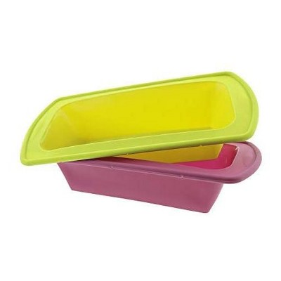 Elbee Home Reinforced Silicone Loaf Pans - 2pc.