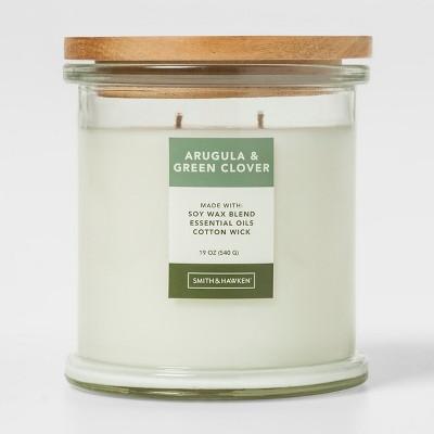Large Lidded Glass Jar Candle Arugula & Green Clover - Smith & Hawken™