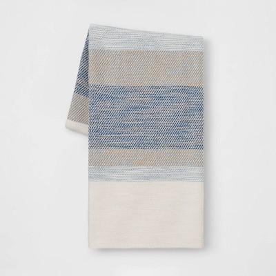 Cotton Woven Stripe Throw Blue - Threshold™