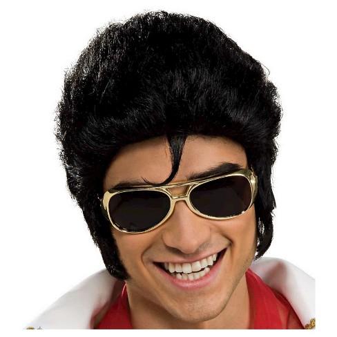 5de27fe1fb Halloween Elvis Glasses Gold - One Size   Target