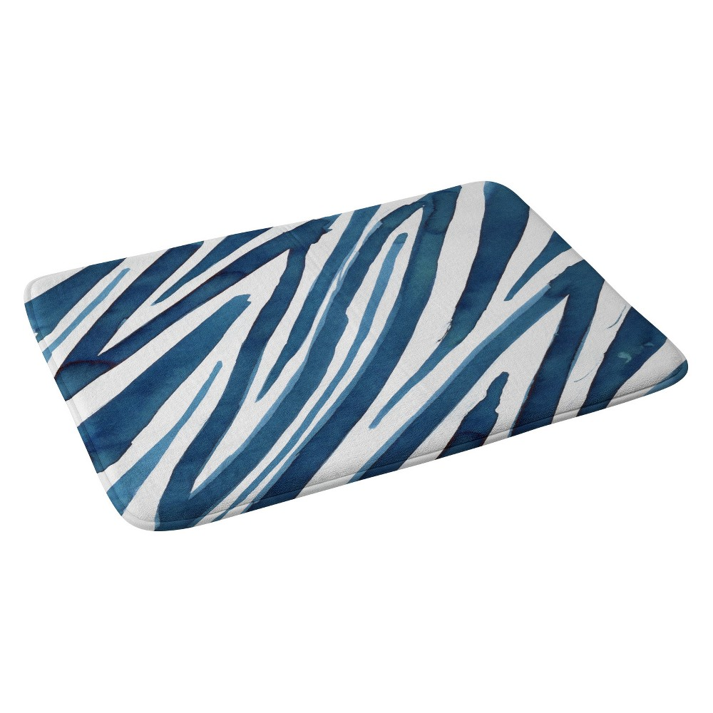 24 34 X36 34 Elena Blanco Flow Bath Rug Blue Gray Deny Designs