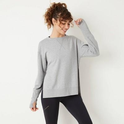 Women's Cozy Side Slit Pullover Sweatshirt - JoyLab™