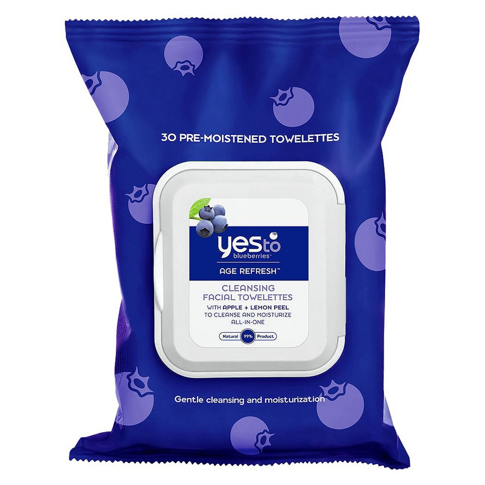 Yes to Blueberries Cleansing Facial Wipes - 30ct
