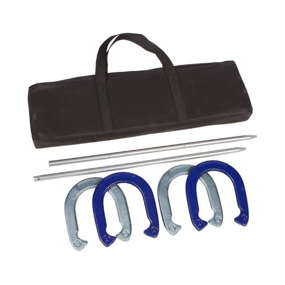 Tailgate360 Powder Coated and Waterproof Steel Professional Horseshoe Set with Carry Case, Multi-Colored
