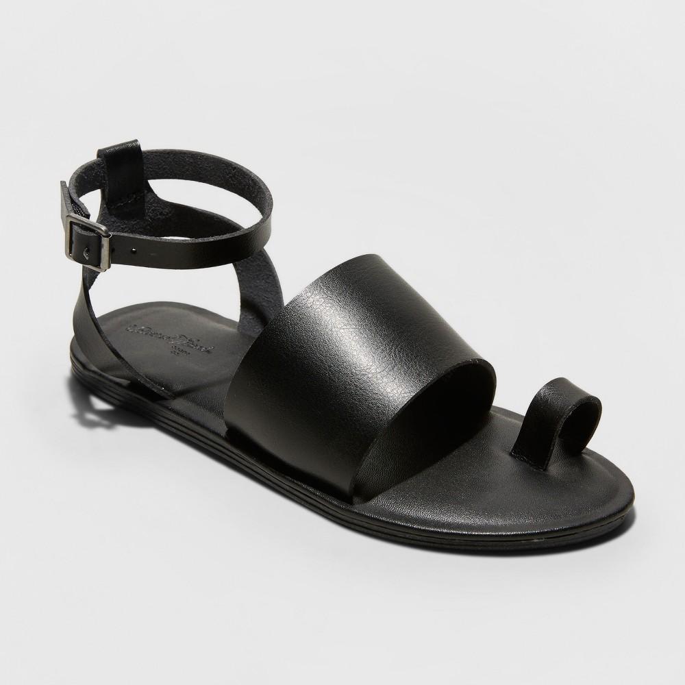 Women's Kenya Ankle Strap Sandals - Universal Thread Black 8.5
